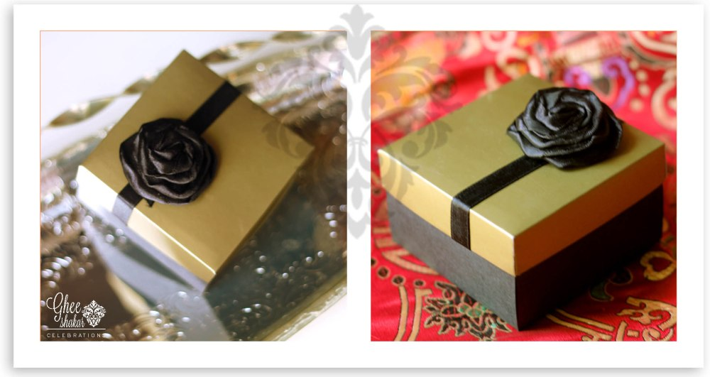 gold and black box