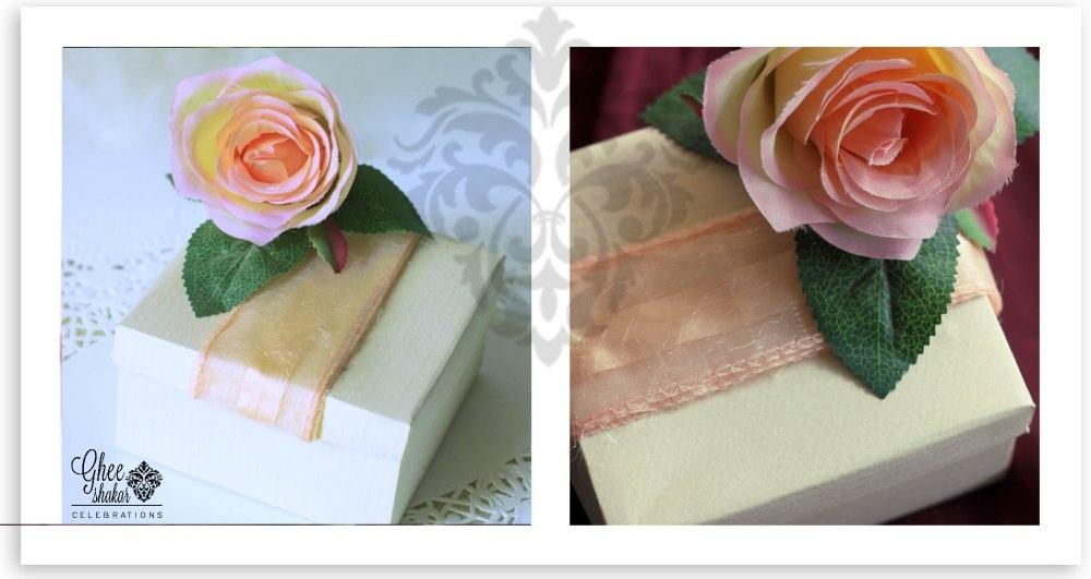 peach flower box