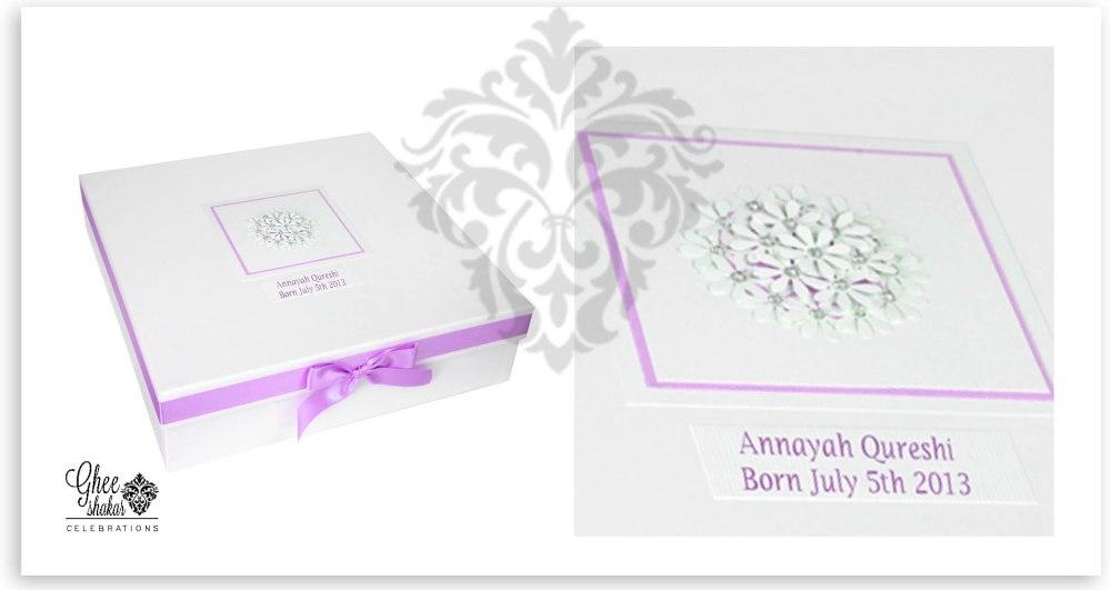 white and purple box collage
